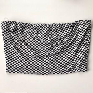 Checkered Print Tube Top